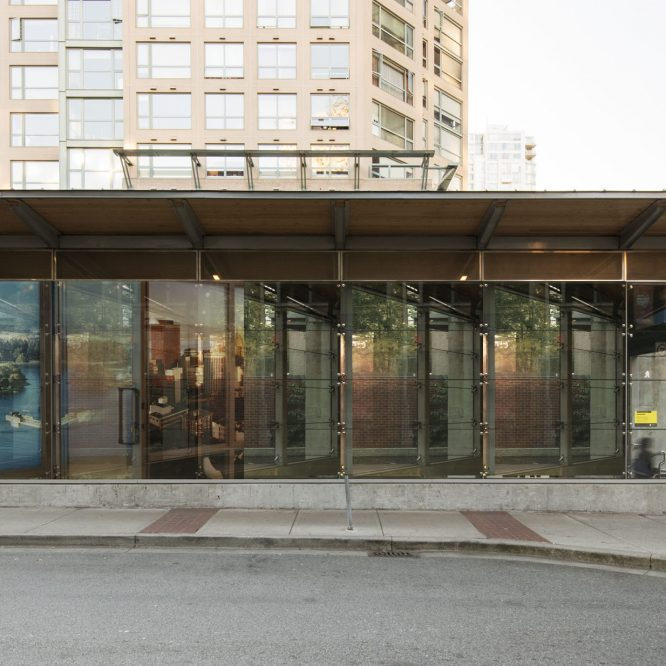 Photo: of an art installation called Yaletown Roundhouse Station: Model Suite (Sliding Door) 2005/17