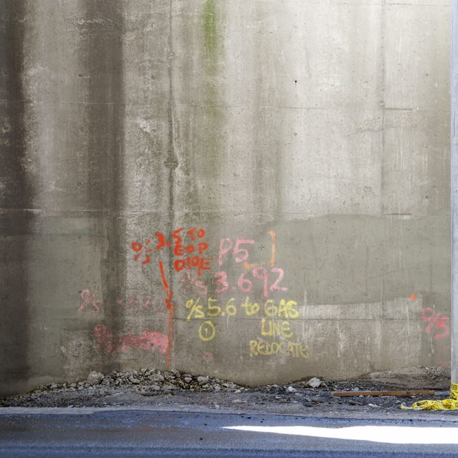 Photo: of an art installation called King Edward Station: Industrioglyphs