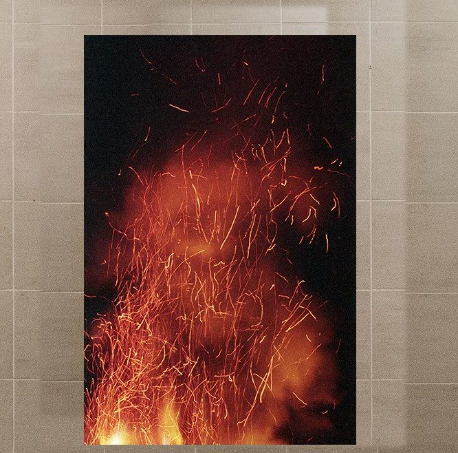 Photo: of an art installation called An urge to propose forbidden thoughts and playing with fire